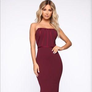 Fashion nova wine dress